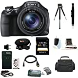 Sony Cyber-shot DSC-HX400 Digital Camera (Black) with 32GB Deluxe Accessory Bundle
