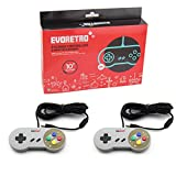 USB SNES Controllers (2-Pack) Vintage Nintendo Compatible NES Emulator Gamepads | Raspberry Pi 3 | Plug-and-Play USB Wired | TV Video Gaming w/10' Long Cords by EVORETRO