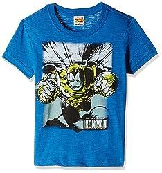 Fox Boys' T-Shirt  (Melange Royal_12 years_337404)