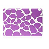 Smart Tech(TM) PRO 13-inch Matte Rubberized Hard Case for Macbook Pro 13.3 Modle:A1278(Not Fit with Retina) (Newest Version) Shell Cover(3 year warranty) (New- Purple Giraffe)