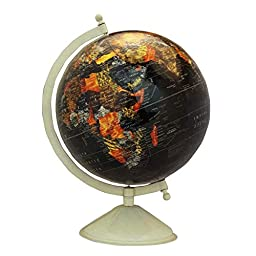 Rotating Desktop Globe World Earth Ocean Globes Geography Table Décor 12.5\