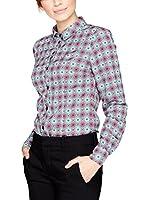 PEPERUNA Camisa Mujer (Gris / Fucsia)