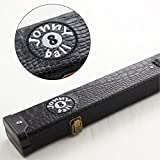 Jonny 8Ball schwarz Croc Design 2pc Queue-Koffer für Snooker Pool