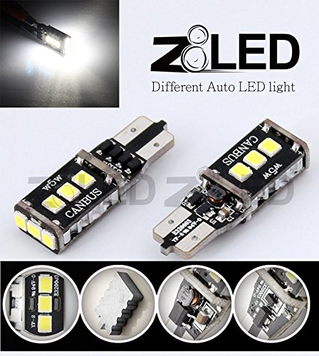 Z8 2Pcs Canbus Error Free T10 W5W 501 194 168 Super Bright 350Lumen Extreme High Power 9P 2835 Chip Smd Auto Led Xenon Backup Reverse Light Bulbs Width Lamp Reading License Plate Door Lamp 33Mm*11Mm Z8Led #T10Cn9W