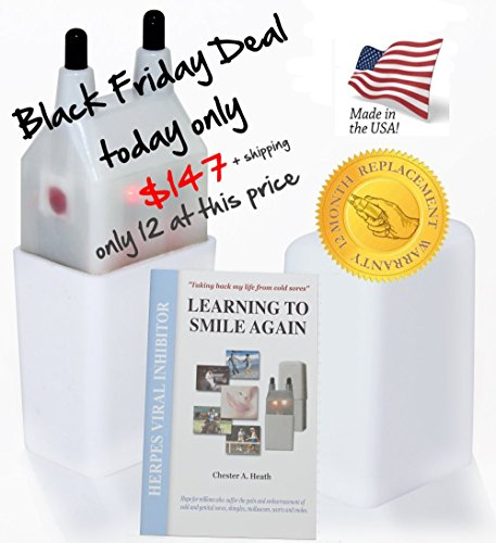 #1 Cold Sore Treatment - Black Friday only $147 today - Prevent ugly painful blisters & stop the embarrassment, very fast relief - Plus FREE Learning to Smile Again Book - 100% Satisfaction Guarantee (Cold Sore Machine compare prices)