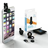 [Voted #1 iPhone Camera Lens Kit] GoGo Robots – Beautiful & Artistic Mobile Photos with Attachments for iPhone, Android, & All Smartphones. Fisheye, Macro & Wide Lenses Are Extremely Sturdy & Easy to Use