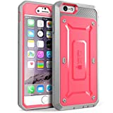 iPhone 6 Plus Case, SUPCASE [Heavy Duty] Belt Clip Holster Apple iPhone 6 Plus Case 5.5 inch [Unicorn Beetle PRO Series] Full-body Rugged Hybrid Protective Cover with Built-in Screen Protector (Pink/Gray), Dual Layer + Impact Resistant Bumper [Not Fit iPhone 6 4.7 inch]