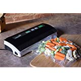Ivation Vacuum Sealer, for Moist and Dry Food & Non-Food Items, with Starter Kit, Seals up to 12-inch Wide Bags, Black