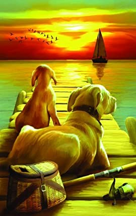 Dockside Sunset 550pc Jigsaw Puzzle by Tom Wood
