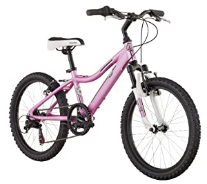 Girl's Lustre Mountain Bike (20-Inch Wheels, Pink) : Sports & Outdoors