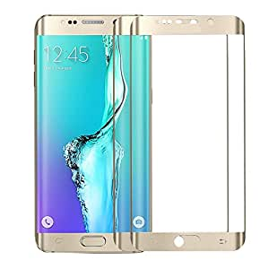 TOS Premium Metal Tempered Glass Screen Protector for Samsung Galaxy E5-Golden