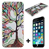 Colorful Tree of Life Pattern Hard with Screen Protector Cover for iPhone 6 Plus