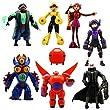QJ 8pcs Disney Big Hero 6 Action Figure Toy Playset Hiro Baymax Fred etc Gift