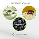 Hygea Natural Standard Bed Bug Pillow Cover | Water Resistant Pillow Protector - Dust Mite & Lice & Allergen Proof Pillow Encasement | King Size