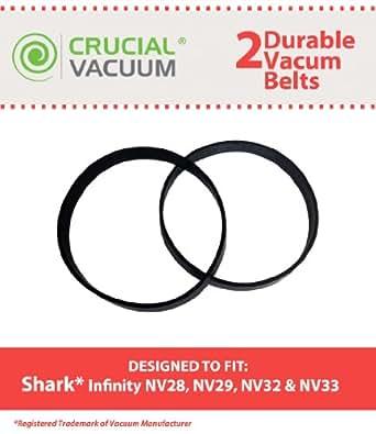 Amazon Com Shark Infinity Belts 2 Pack Fit Shark Nv28