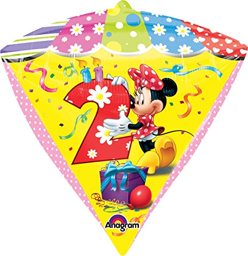 "Anagram International Minnie Age 2 Diamondz Balloon Pack, 17"", Multicolor"
