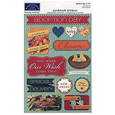 Karen Foster Cardstock Stickers, Adoption Day