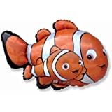 "Clownfish/Nemo 26"" Foil Balloon - Under the Sea Parties"