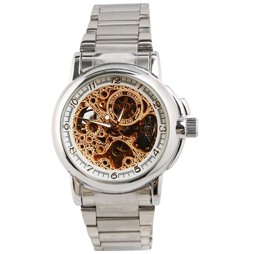 Yesurprise New Fashion Luxury Men Stainless Steel Automatic Mechanical Wrist Watch for Graduation Party Gift Trendy #4