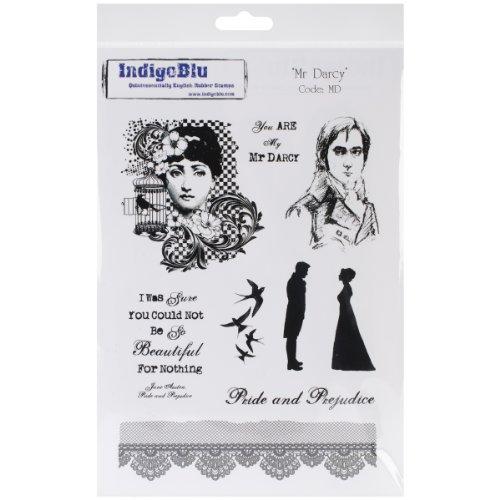 Indigoblu Cling Mounted Stamp, 9.25 By 6.25-Inch, Mr. Darcy