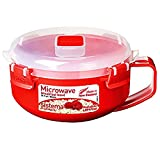 Sistema Microwave Cookware Breakfast Bowl, 28 Ounce/ 3.5 Cup, Red