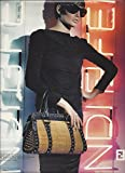 **Magazine PRINT AD** With Bridget Hall In Black For Fendi Handbags **PRINT AD**
