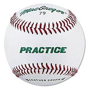 Macgregor 79P Leather Practice Baseball (One Dozen)