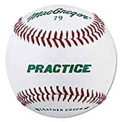 Buy Macgregor 79PY Boys Practice Baseball, White, Youth (One Dozen) by MacGregor