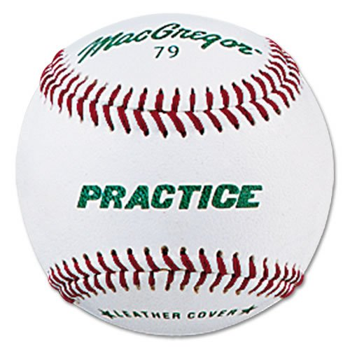 Macgregor Boys Practice Baseball, White, Youth (One Dozen)