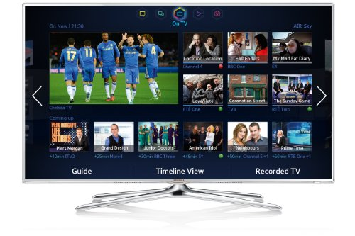 Samsung UE32F6510 32-inch Widescreen 1080p Full HD 3D Smart LED TV with Freeview, S Recommendation, Voice Interaction, Dual Core Processing - White