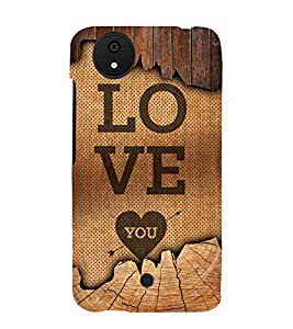 Love You 3D Hard Polycarbonate Designer Back Case Cover for Micromax Android A1 :: Micromax Canvas A1 AQ4502