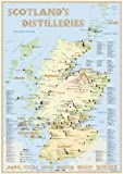 Scotland's Distilleries - Poster 60x42cm: The scotisch Whisky Landscape in Overview