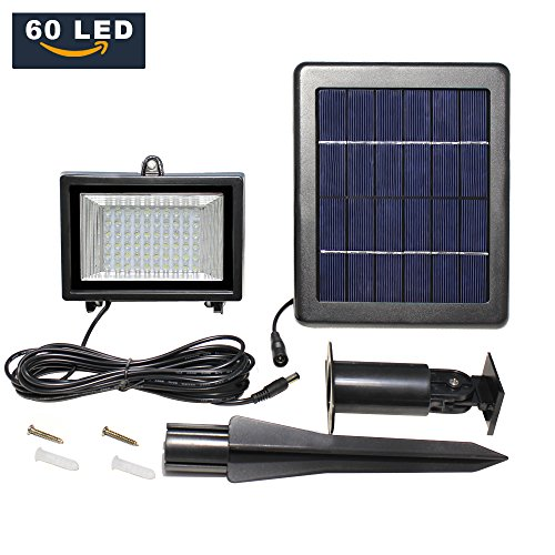 LTE 60 LED Solar Lights, Outdoor Security Floodlight, 300
