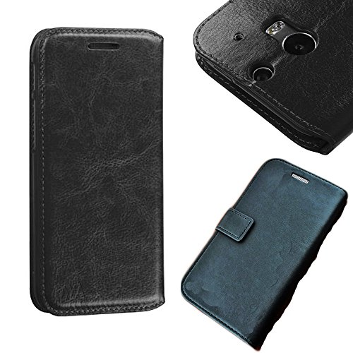 Mylife Classic Black {Manly Design} Faux Leather (Card, Cash And Id Holder + Magnetic Closing) Slim Wallet For The All-New Htc One M8 Android Smartphone - Aka, 2Nd Gen Htc One (External Textured Synthetic Leather With Magnetic Clip + Internal Secure Snap