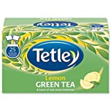 Tetley Tea Bags Green Tea with Lemon Individually Wrapped Ref A06680 [Pack 25]