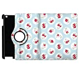 Shabby Chic Florals on Blue Rotate Flip Folio Case for iPad 2 3 4 Mini, Kindle Fire, & Samsung Galaxy Note - Apple iPad 2 Rotary Cover