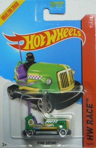 Hot Wheels 2014 Hw Race Track Aces Green/Purple Bump Around 166/250