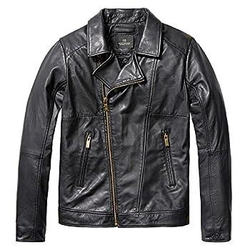 スコッチアンドソーダ SCOTCH&SODA Leather Biker Jacket / ブラック [0408-15390] レザージャケット バイカー ブルゾン アウター 羊皮革 メンズ|S ブラック(08)