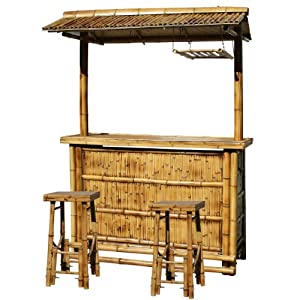 amerihome babbrc outdoor bamboo tiki bar set