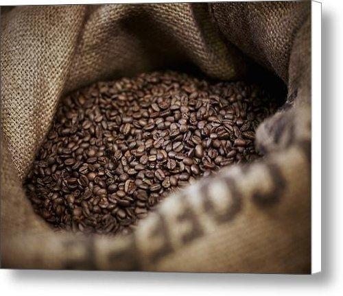 Coffee Beans In Burlap Sack Canvas Print / Canvas Art - Artist Adam Gault
