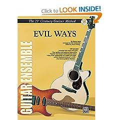 Belwin's 21st Century Guitar Ensemble -- Evil Ways: Score & Parts, Score, Parts & CD (Belwin's 21st Century Guitar Course)