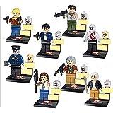Walking Dead Governor Andrea Lori Carol Merle Shane Zombie 8pcs Building Blocks Bricks Assembly Toy Not Lego Fits Lego