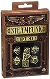 Q-Workshop SSTE18 - Steampunk Dice Beige/Black 7 Stück