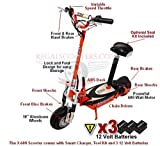 X-Treme Scooters High Performance Electric Scooter (Black)