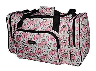 Ladies Fully Lined Holdall Hand Luggage Shoulder Travel Gym Bag *Owl Print* Butterflys * Hearts*
