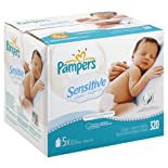 Pampers Wipes, Perfume Free 320 wipes