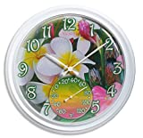 Springfield 98002 Tropical Flowers Clock with Thermometer