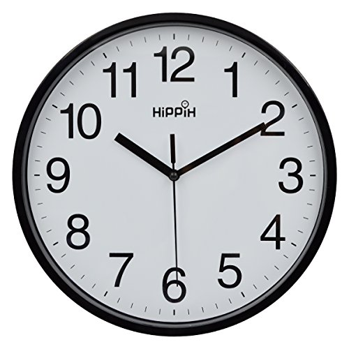 hippih-10-silent-quartz-decorative-wall-clock-non-ticking-digitalblack