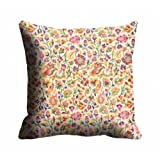 MeSleep Digitally Printed Multi Abstract Micro Fabric Cushion Cover - Beige