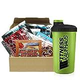 Supplement Sample Box - 20 Proben diverser Hersteller + Fitnesskaufhaus Shaker